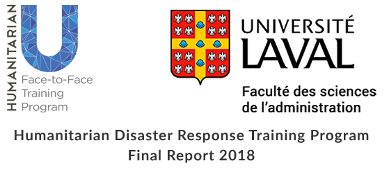 Humanitarian Disaster Response Training Program Final Report 2018 is now available